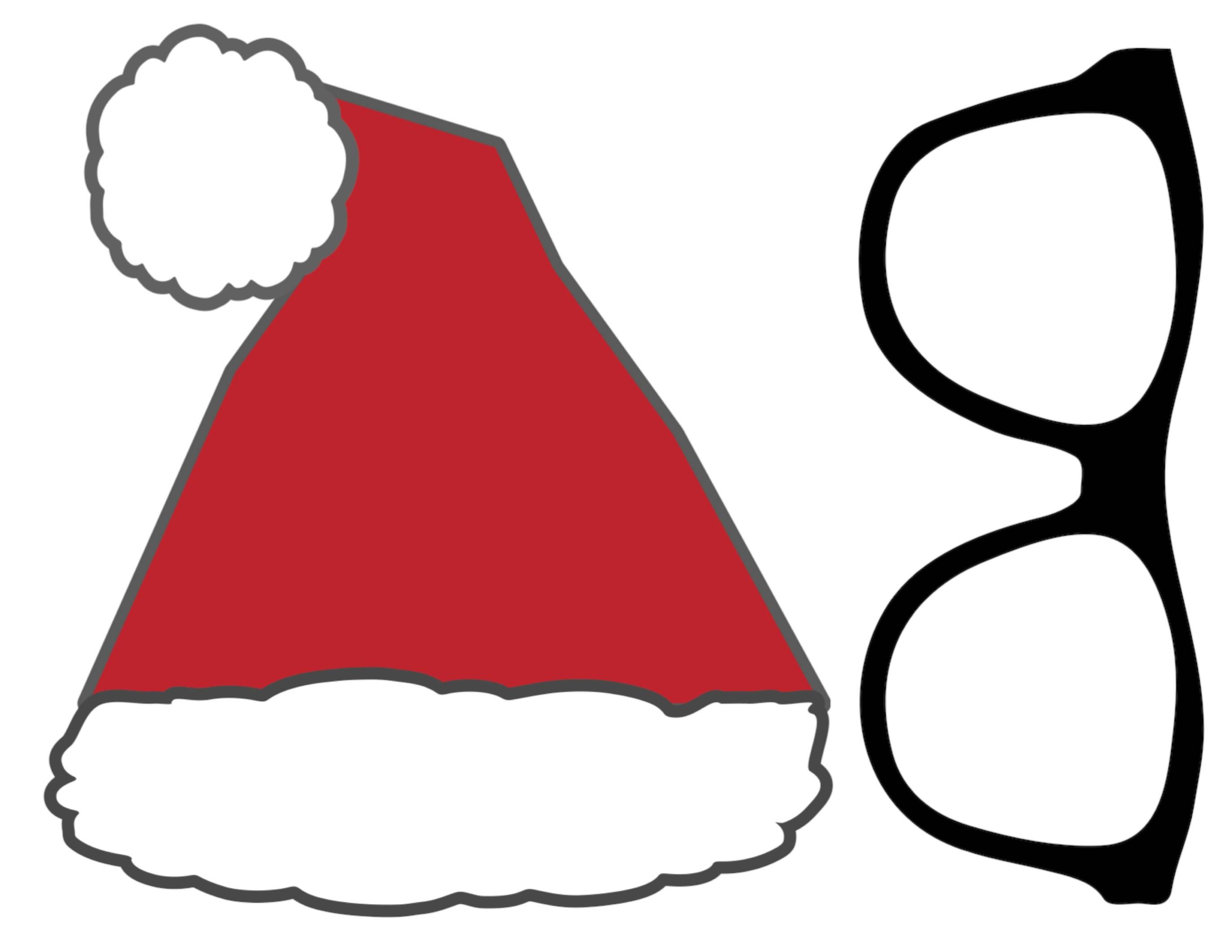 Photo Booth Props Template Christmas