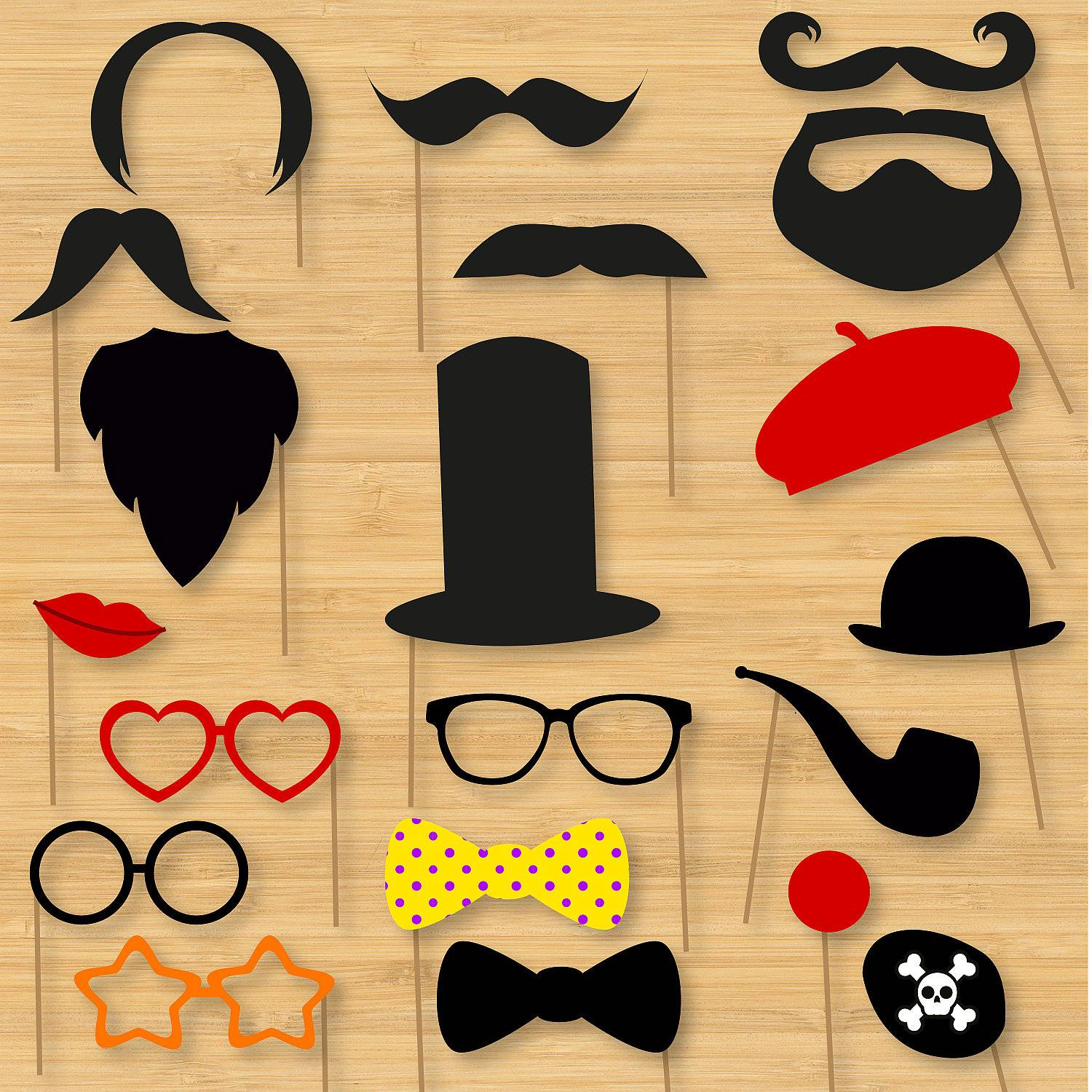 Photo Booth Props Template Crown