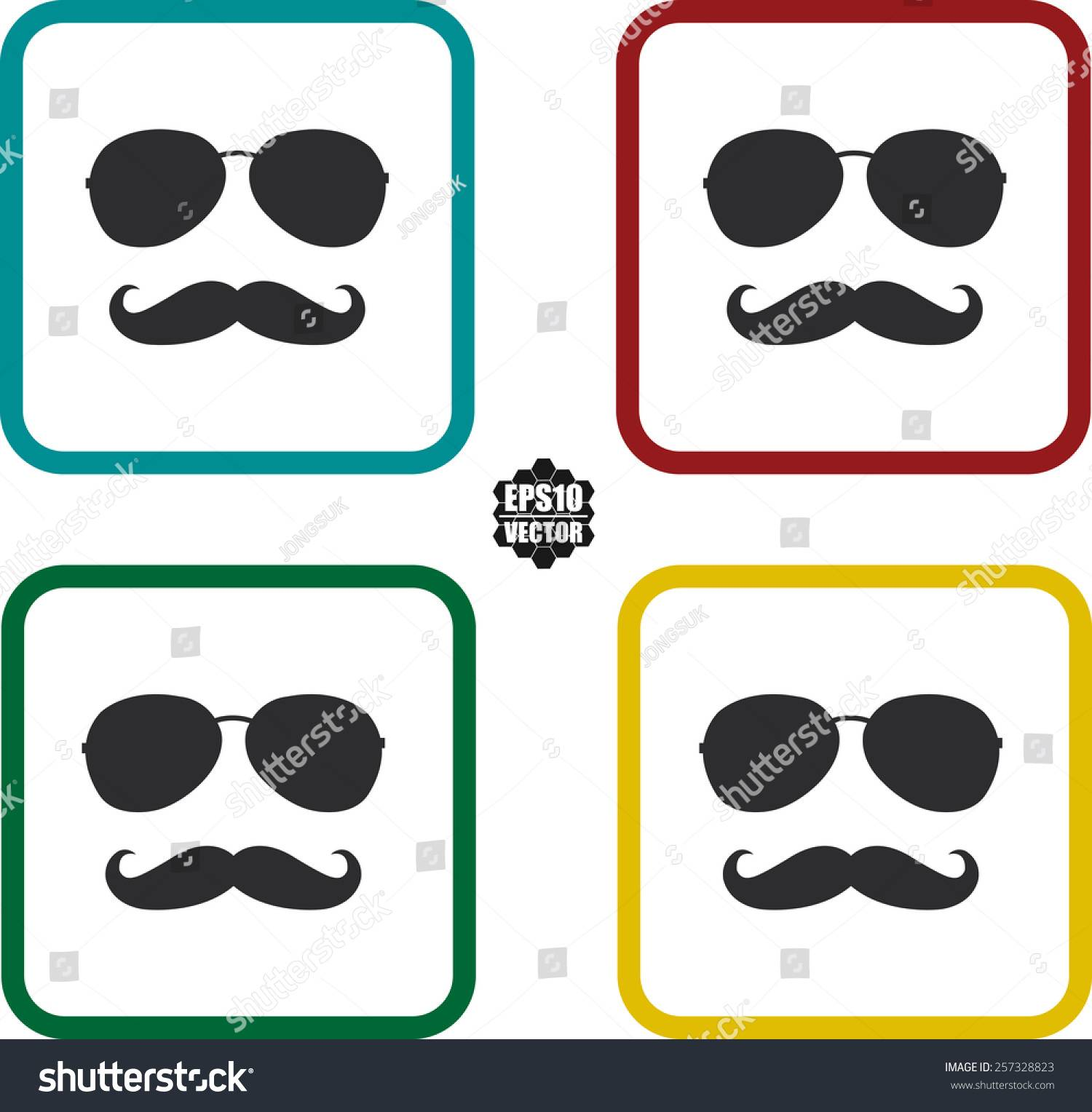 Photo Booth Props Template Glasses