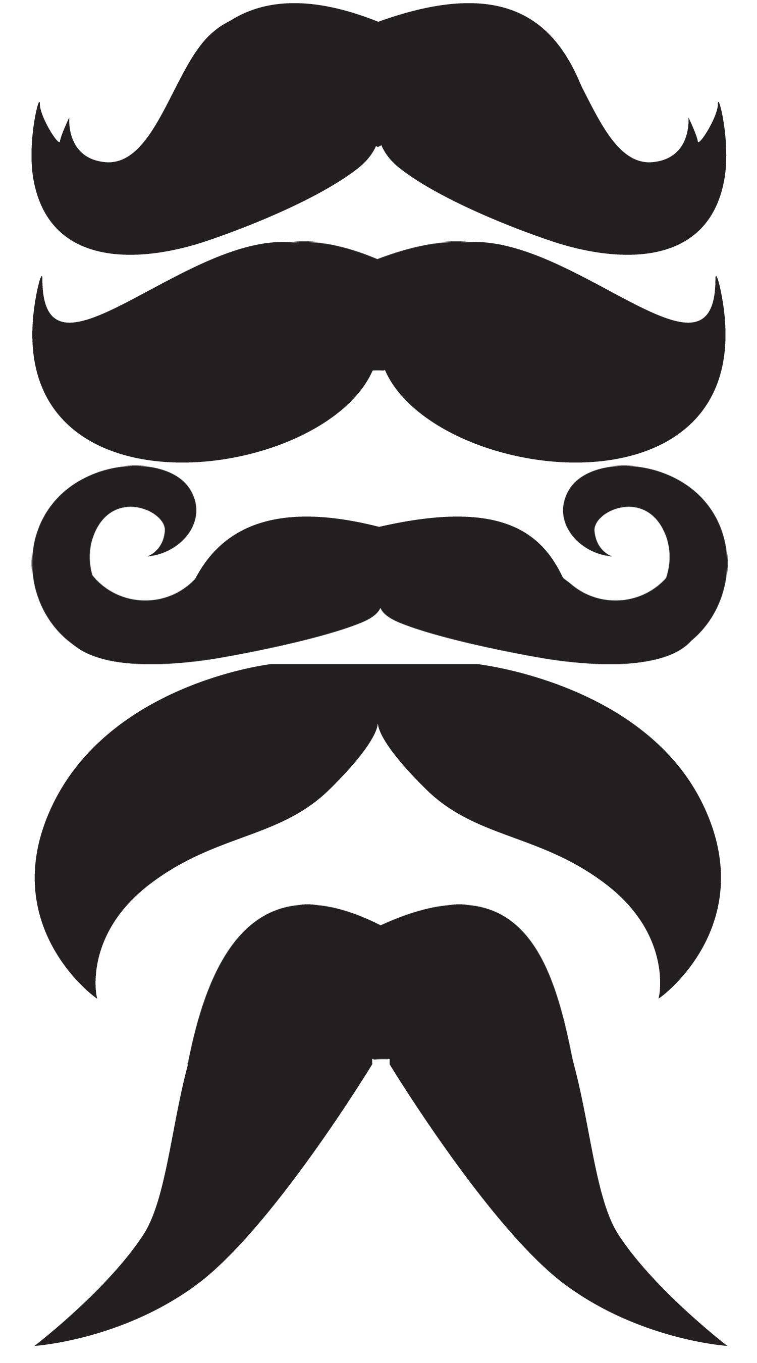 Photo Booth Props Template Mustache