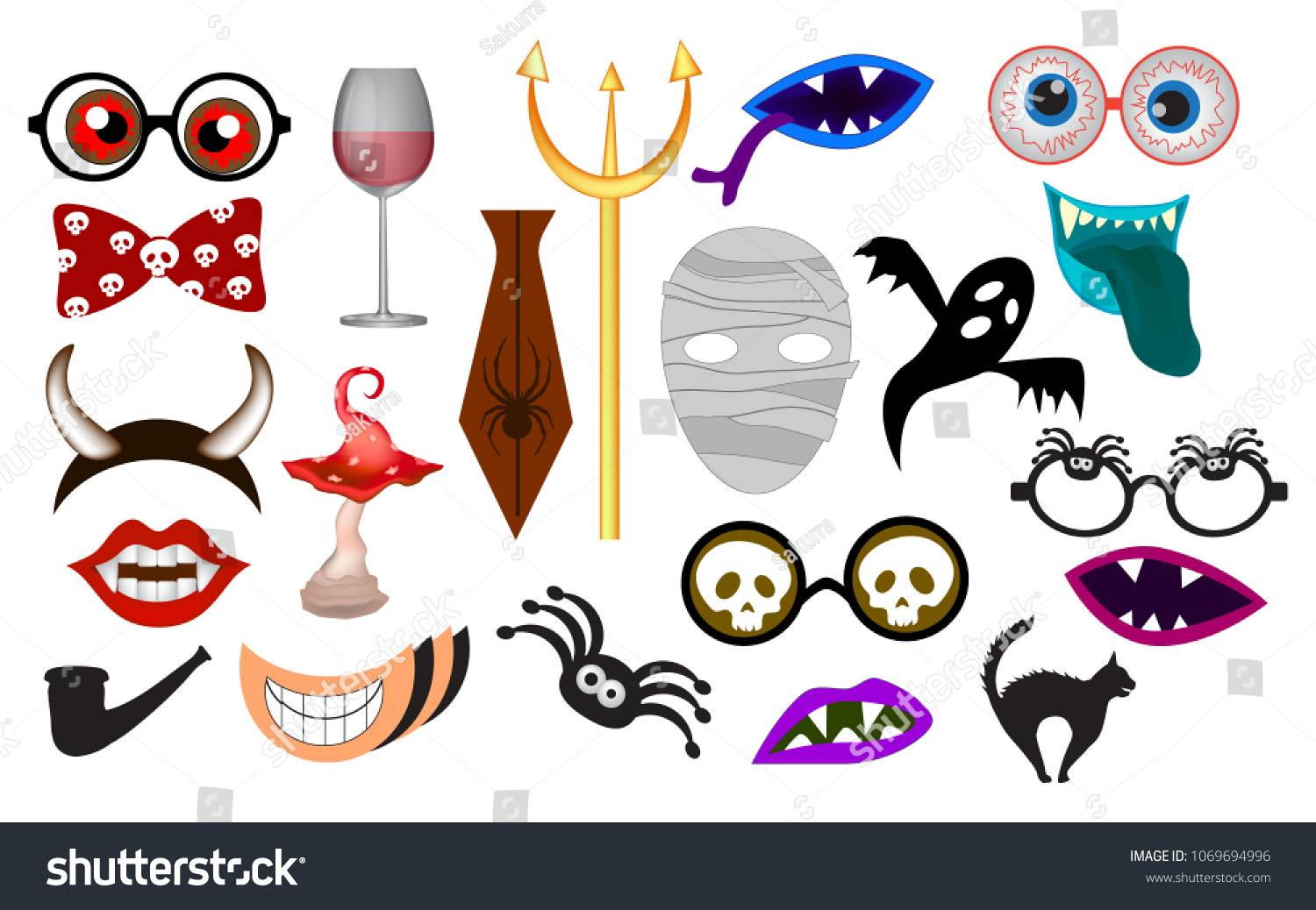 Photo Booth Props Template Vector