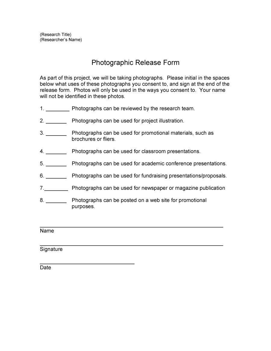 Photo Consent Form Template Uk