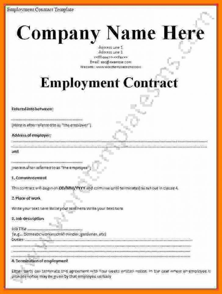 Photographer Employment Contract Template
