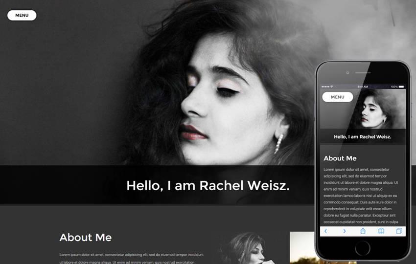 Photographer Portfolio Free Website Template