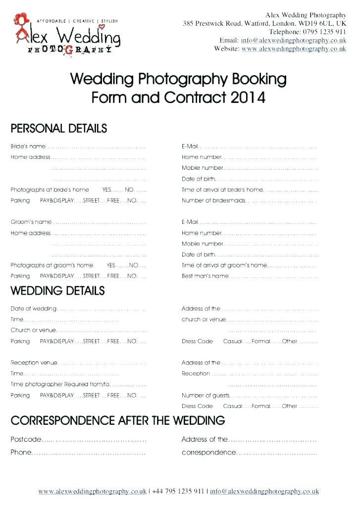 Photography Contract Template Google Docs