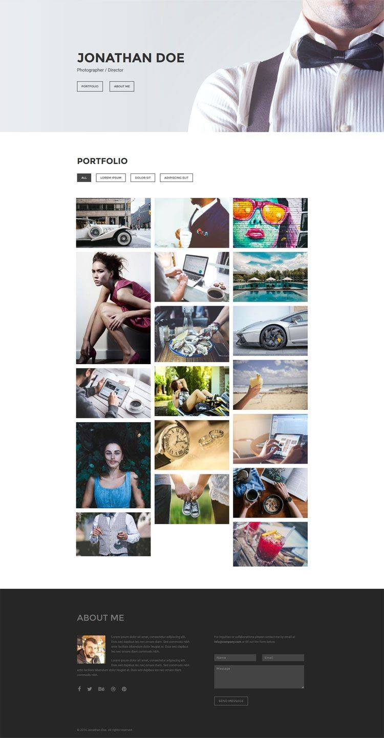 Photography Portfolio Website Templates Html5