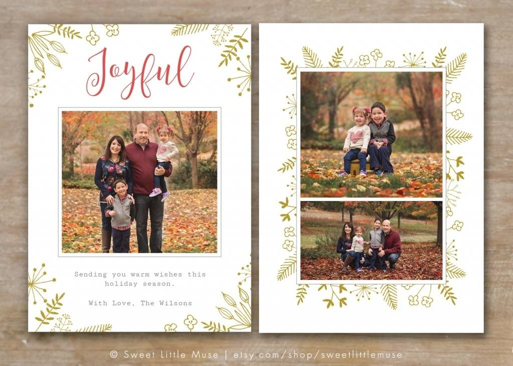 Photoshop Christmas Card Templates For Photographers