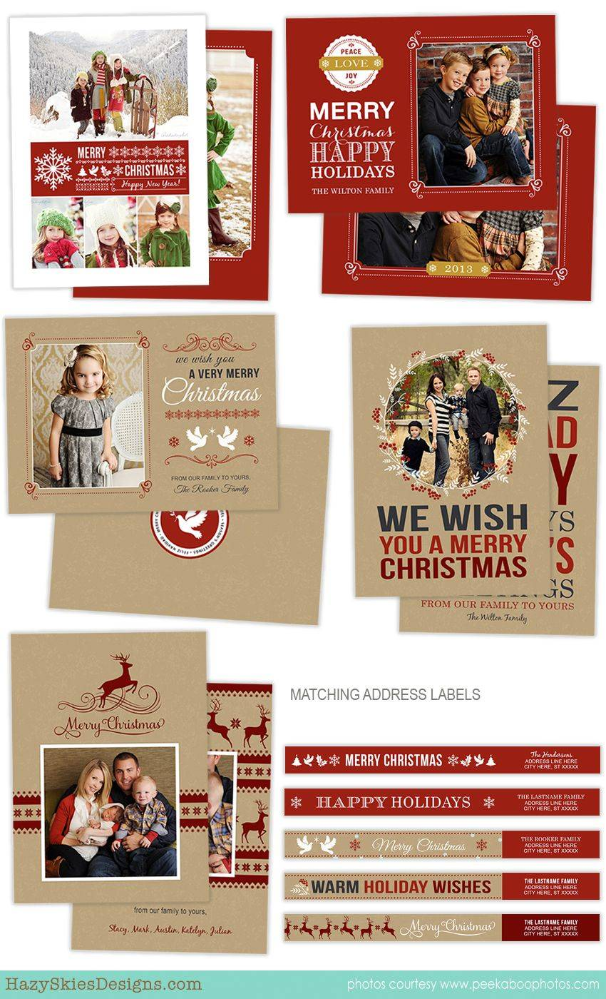 Photoshop Holiday Card Templates For Photographers