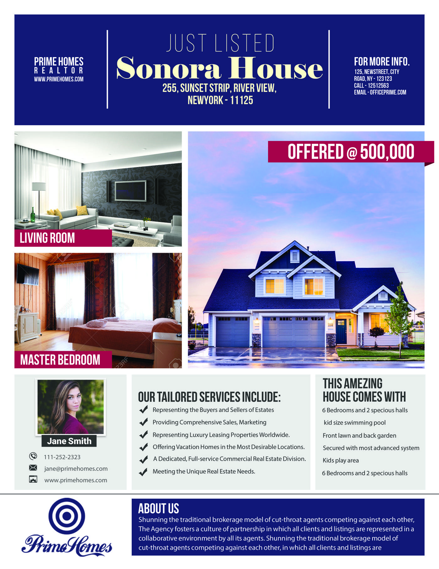 Photoshop Template Real Estate Flyer