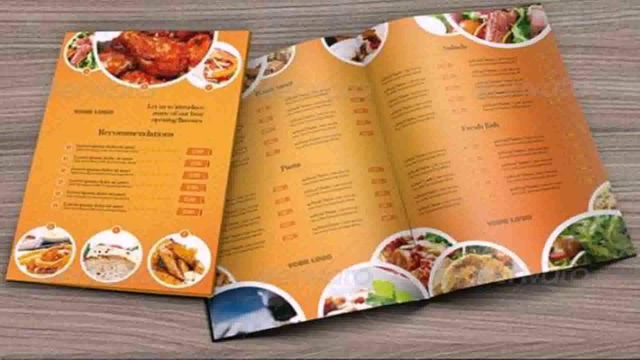Photoshop Templates For Restaurant Menus