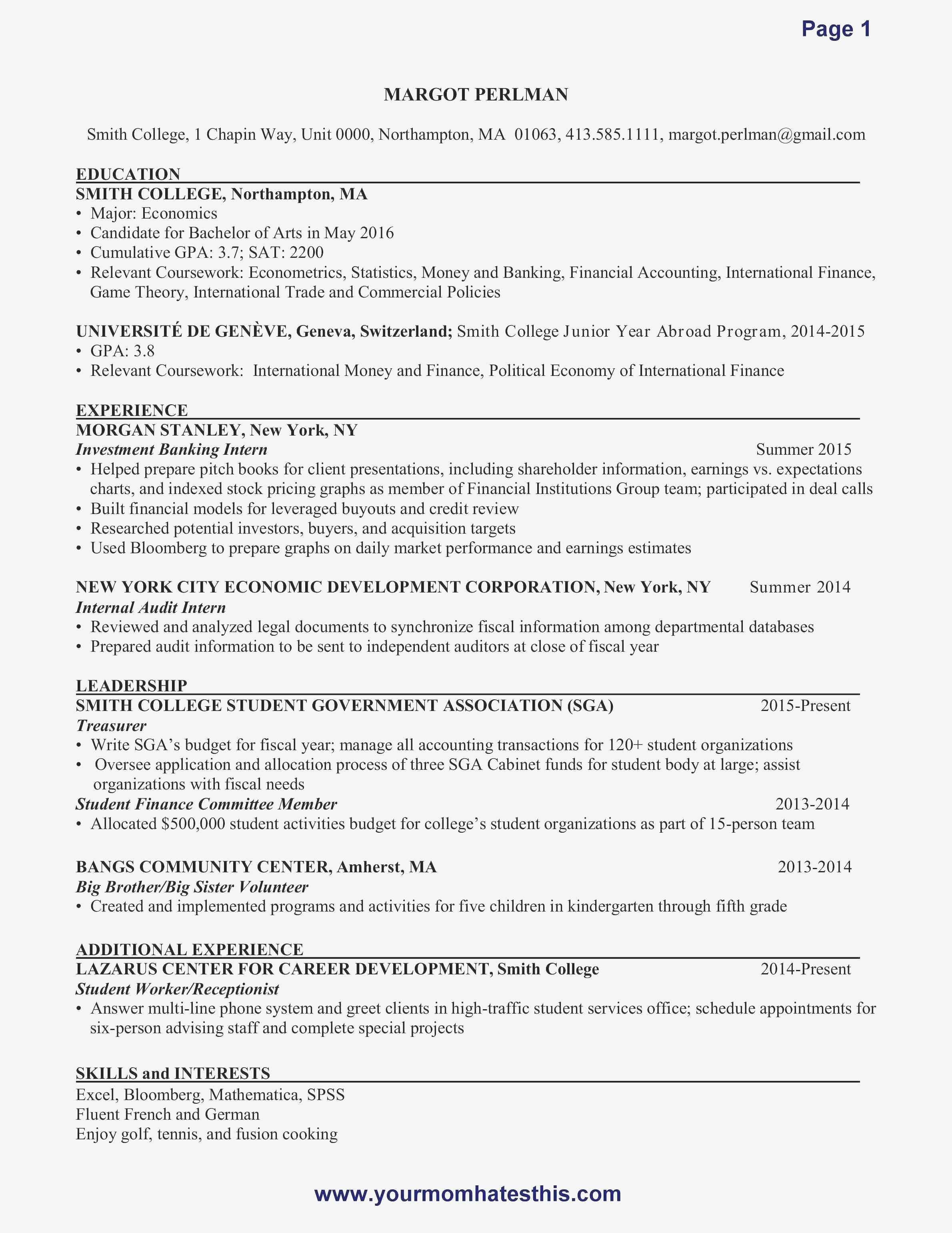 Physical Therapy Resume Template