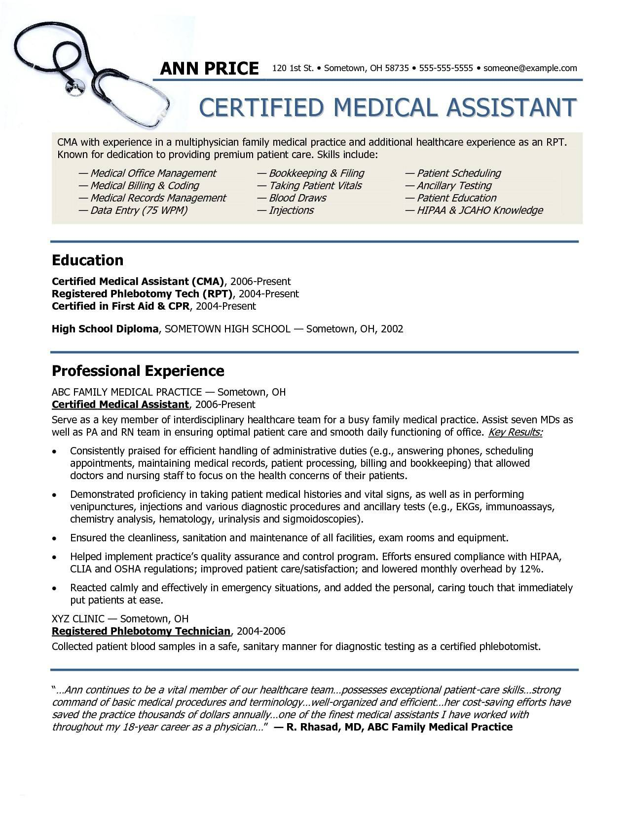 Physician Executive Resume Template