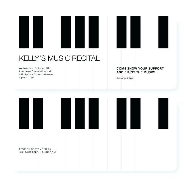 Piano Concert Invitation Template Free