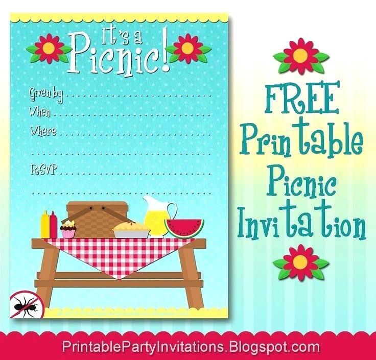 Picnic Invitation Template Online