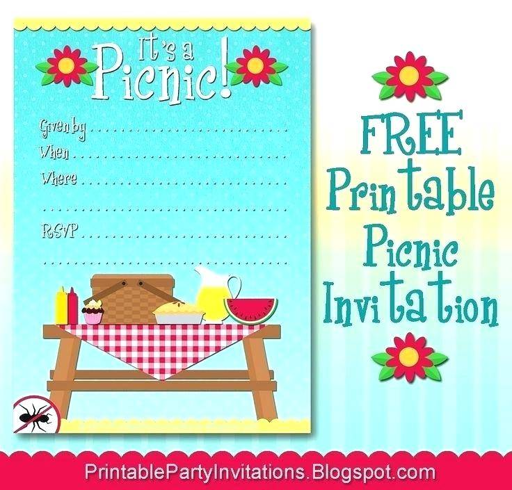 Picnic Party Invitation Templates