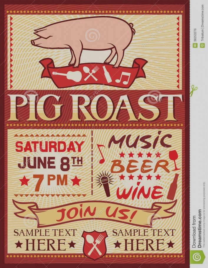 Pig Roast Invitation Template