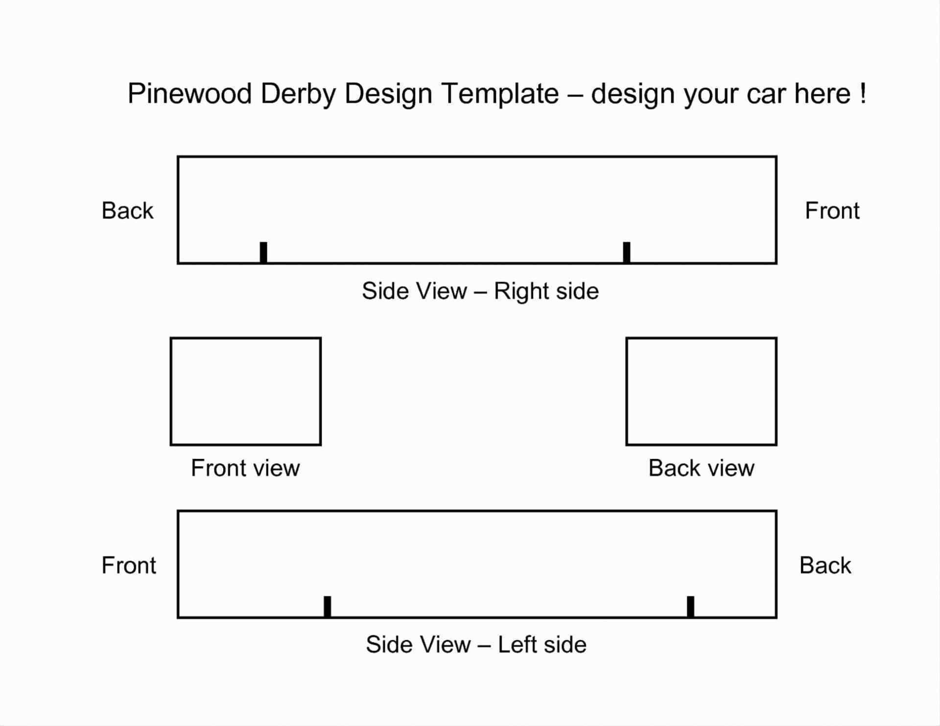 Pinewood Derby Car Templates Printable