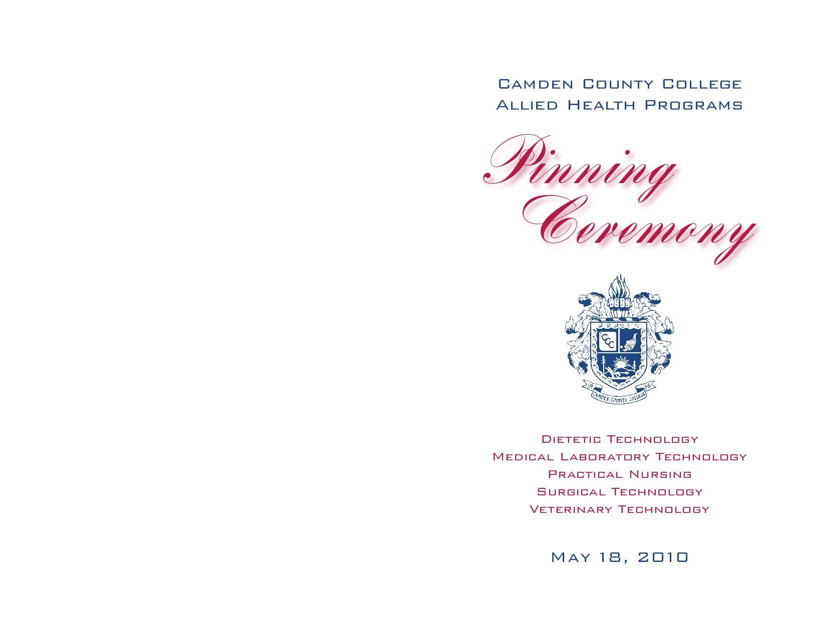 Pinning Ceremony Program Template