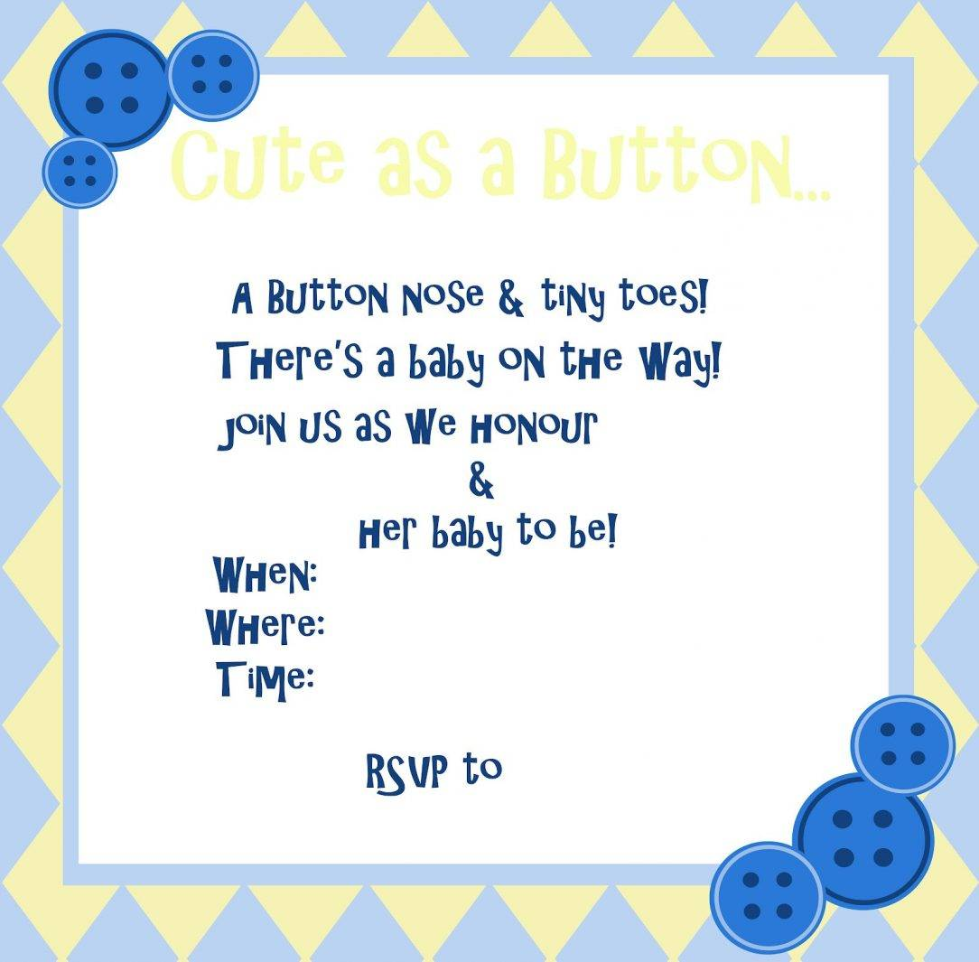 Pinterest Baby Shower Invitation Templates