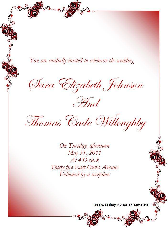 Pinterest Wedding Invitation Templates Free