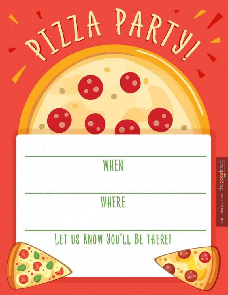Pizza Birthday Party Invitation Template