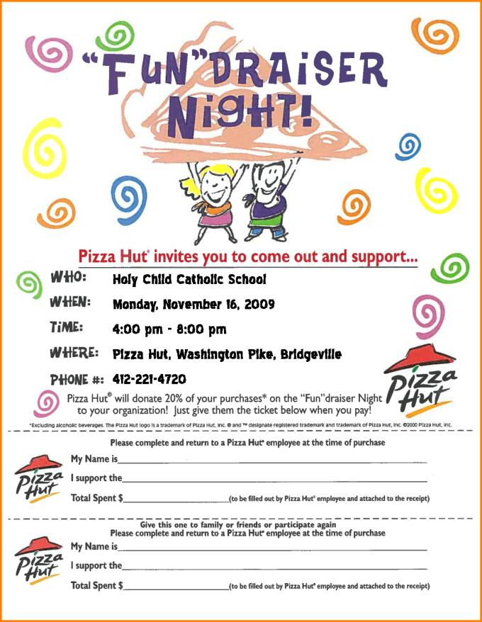 Pizza Fundraiser Flyer Template Free