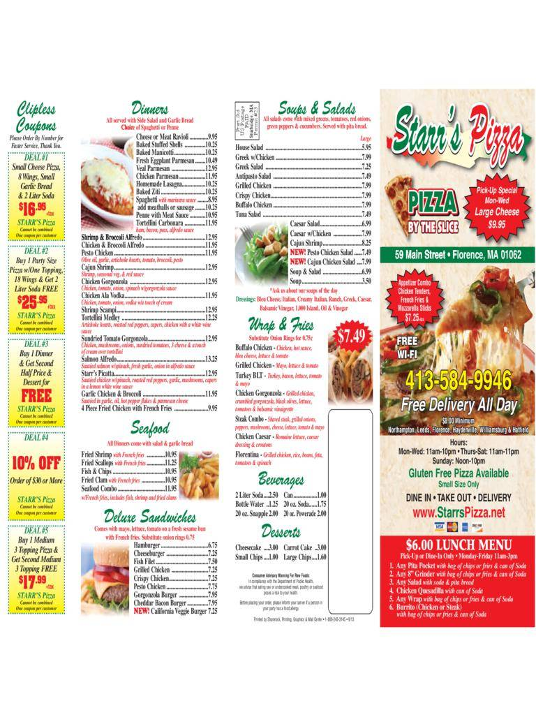 Pizza Menu Templates Illustrator