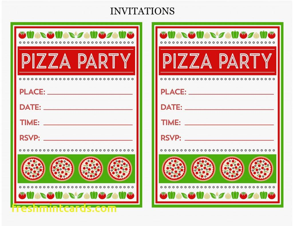 Pizza Party Invitation Template Free