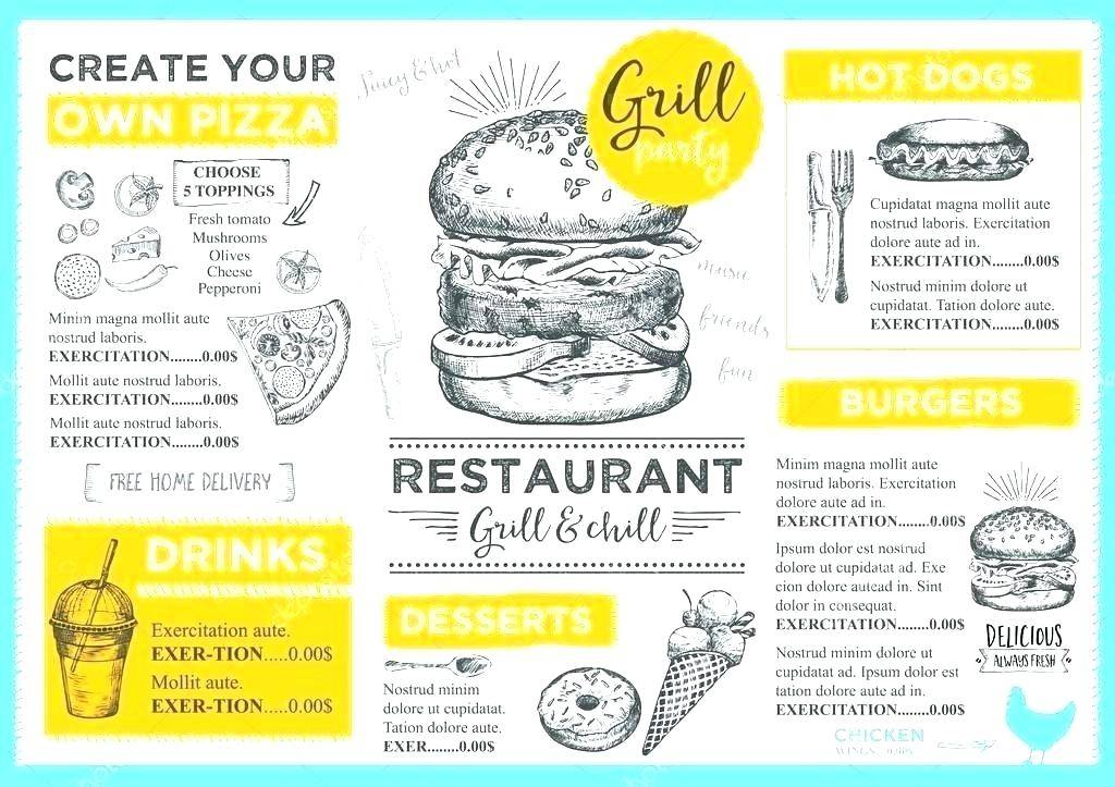 Pizza Restaurant Menu Template Free