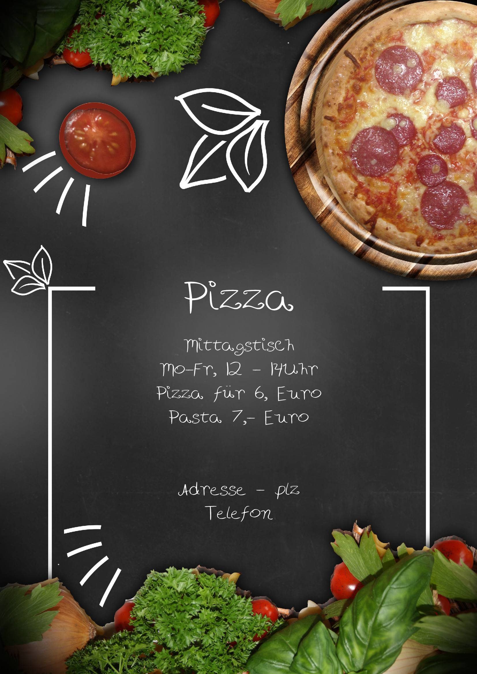 Pizza Shop Menu Template