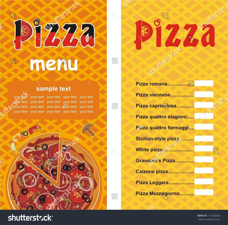 Pizzeria Menu Templates Free
