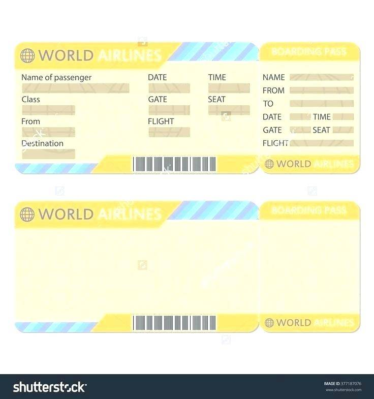 Plane Ticket Birthday Invitation Template