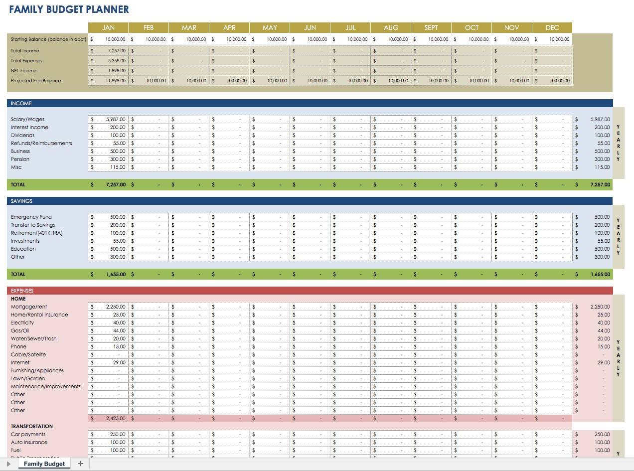 Planner Template For Excel