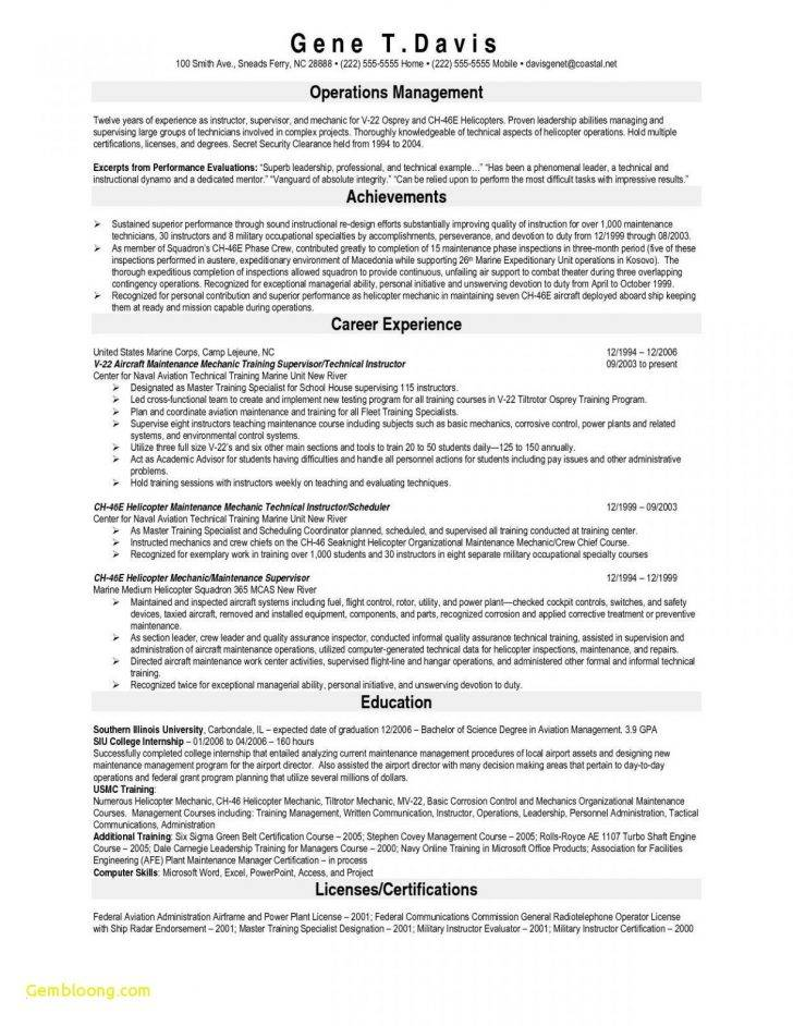 Plant Mechanic Resume Template