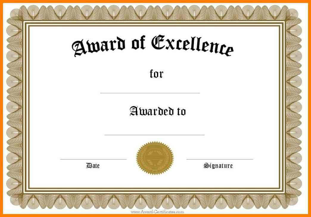 Plaque Award Template