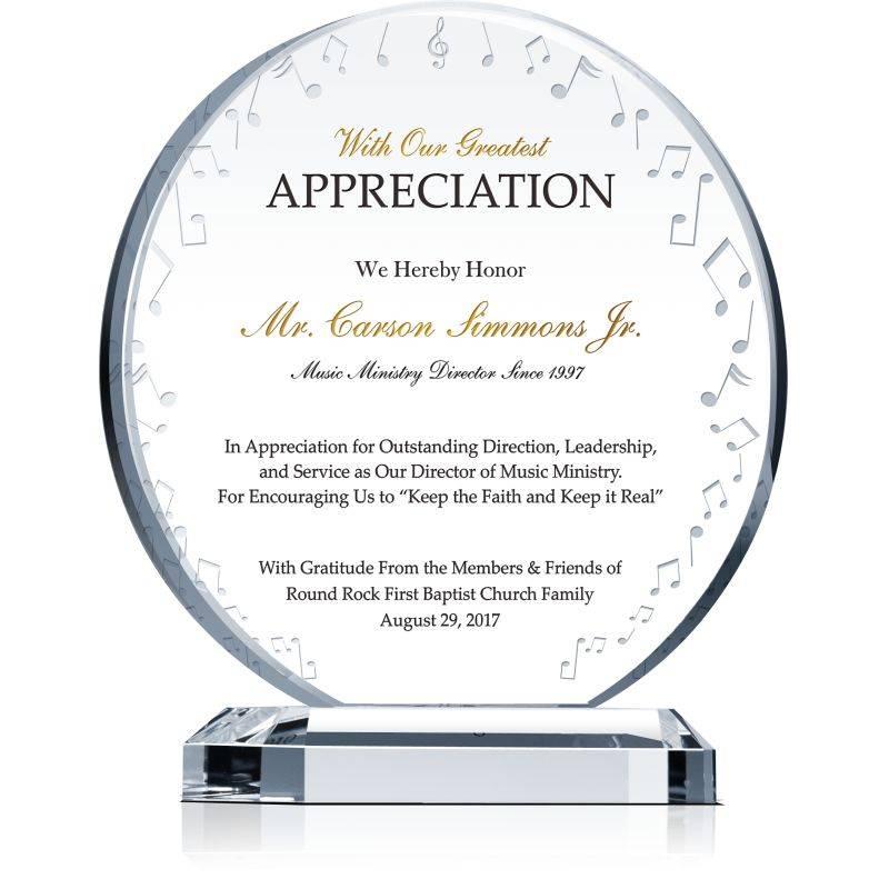 Plaque Of Appreciation Examples