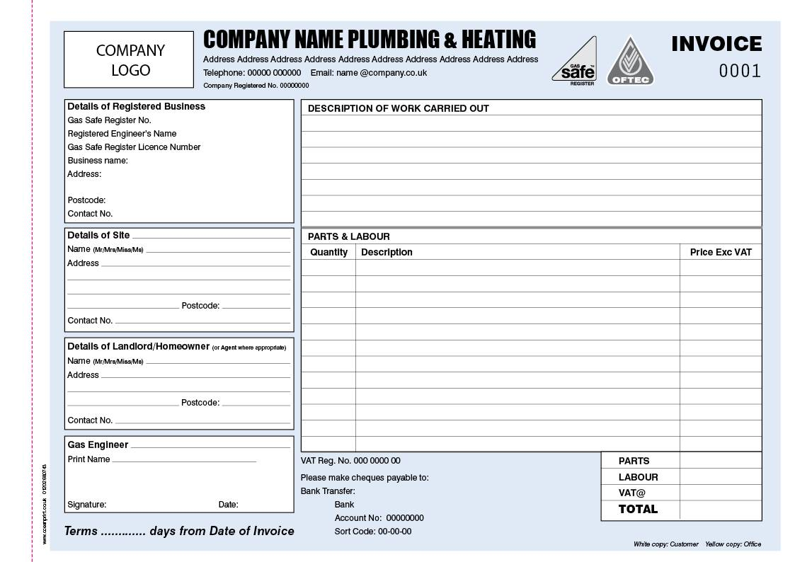 Plumber Invoice Template Word