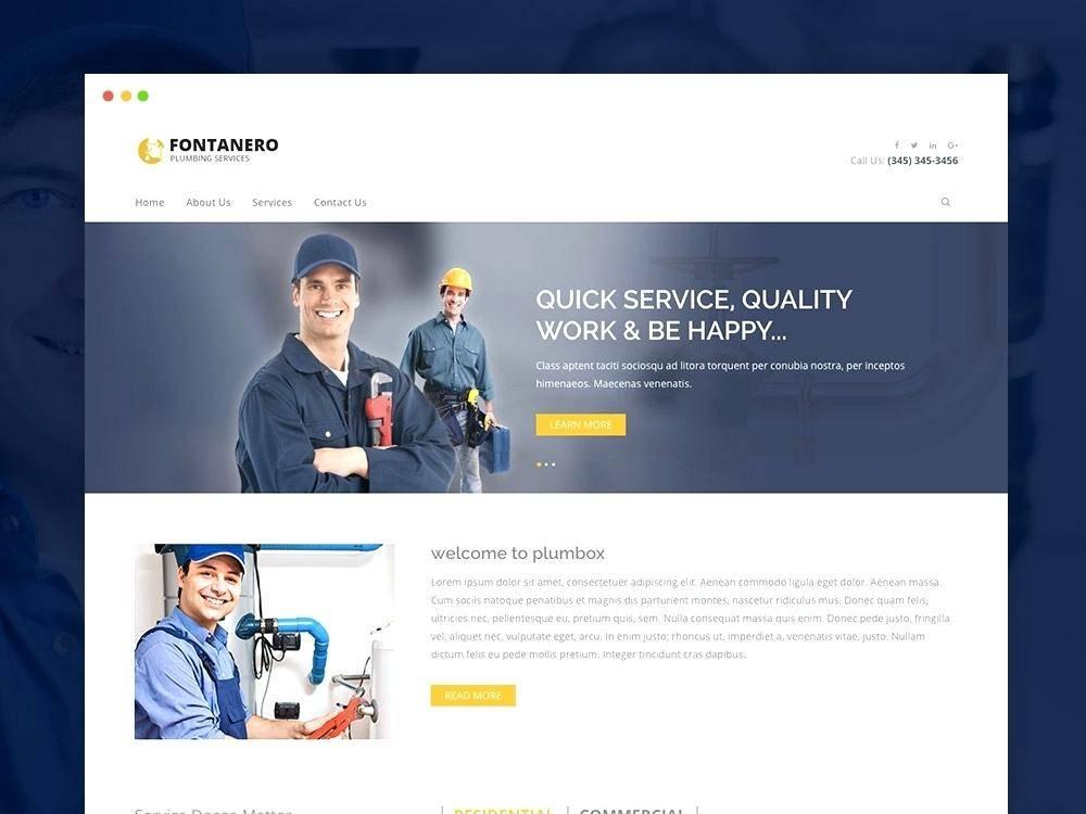 Plumber Service Website Template
