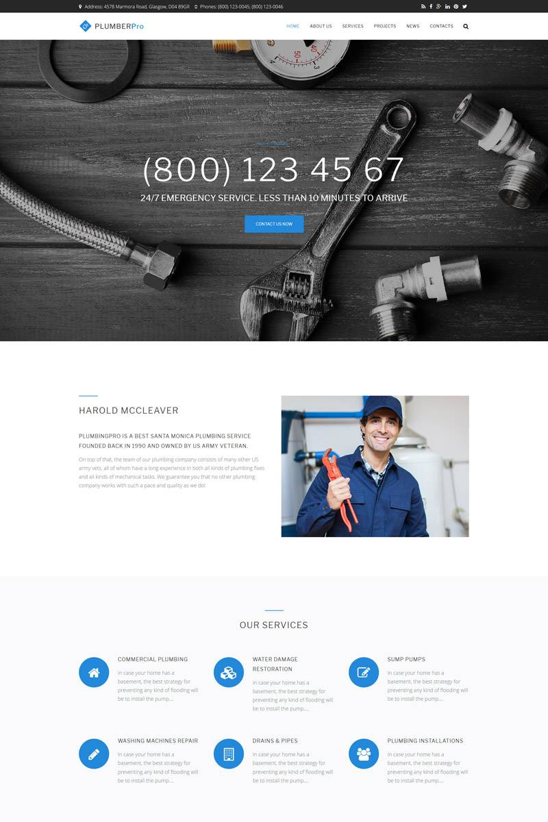 Plumber Website Template