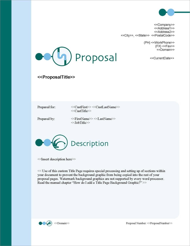 Plumbing Proposal Samples