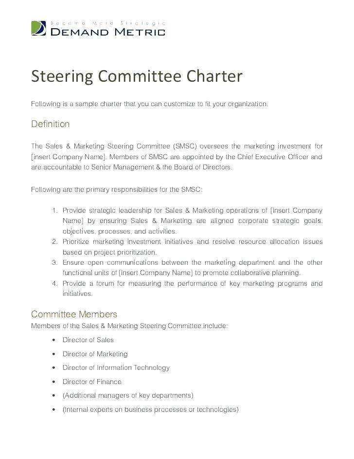 Pmo Charter Template Example