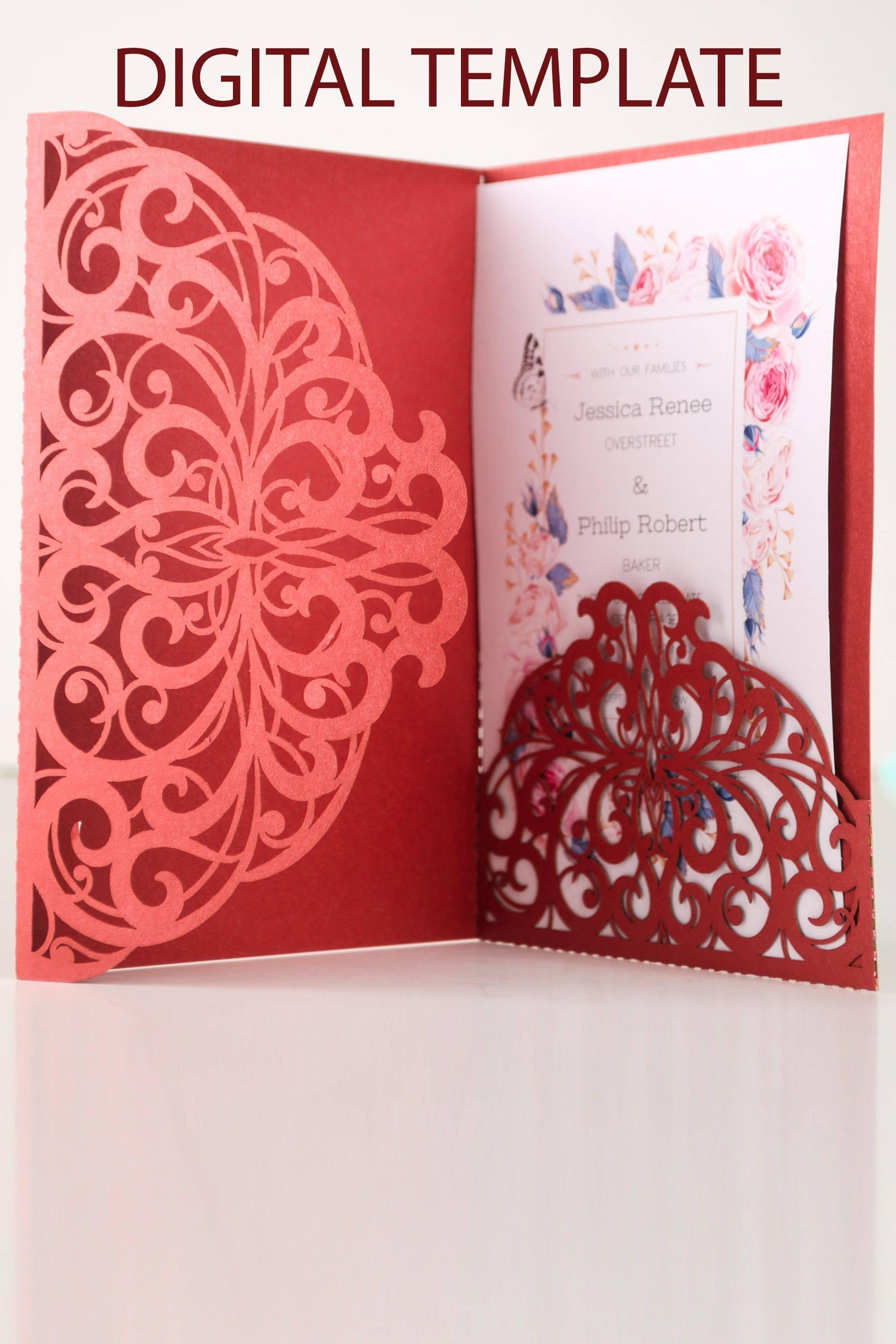 Pocket Invitation Template Cricut