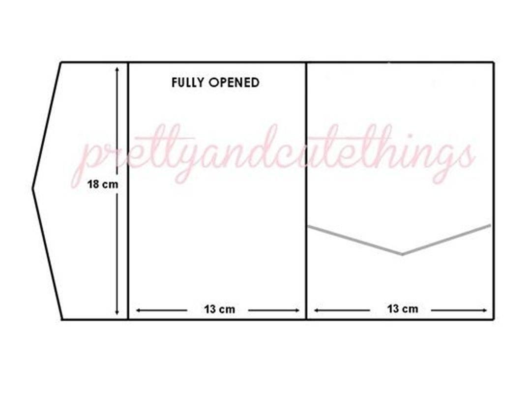 Pocketfold Invitation Template 12×12 Cardstock
