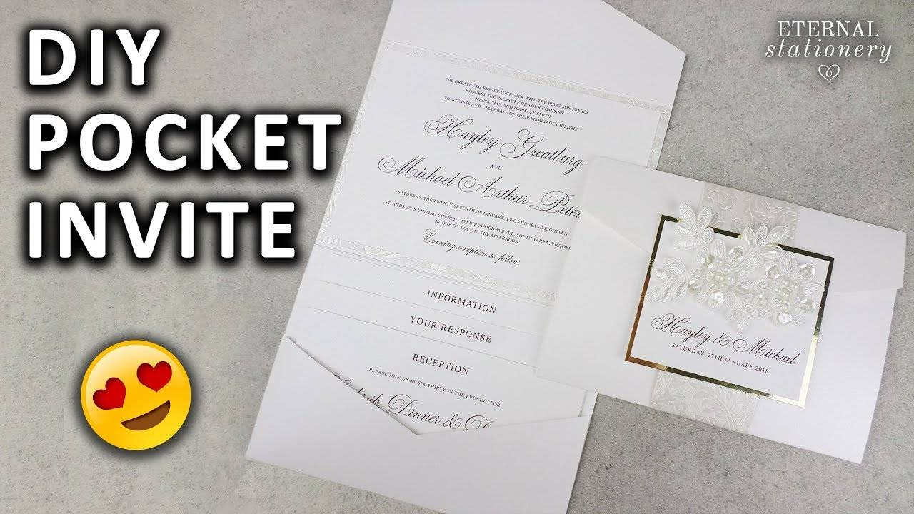 Pocketfold Wedding Invitation Template