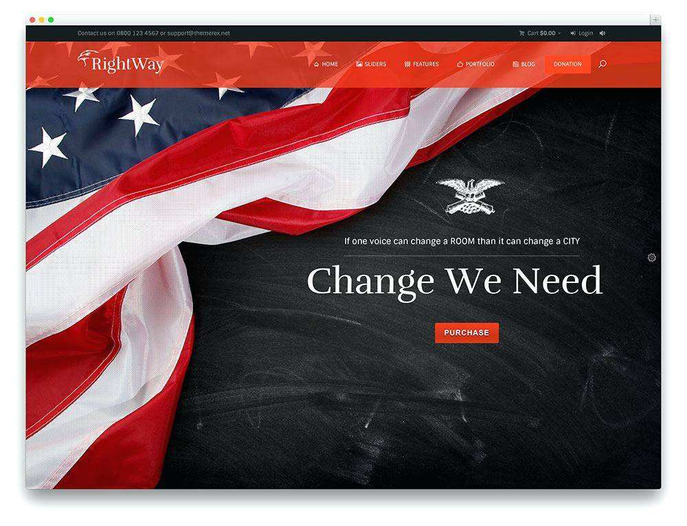 Political Campaign Banner Template