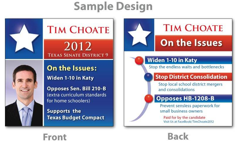 Political Campaign Business Card Templates