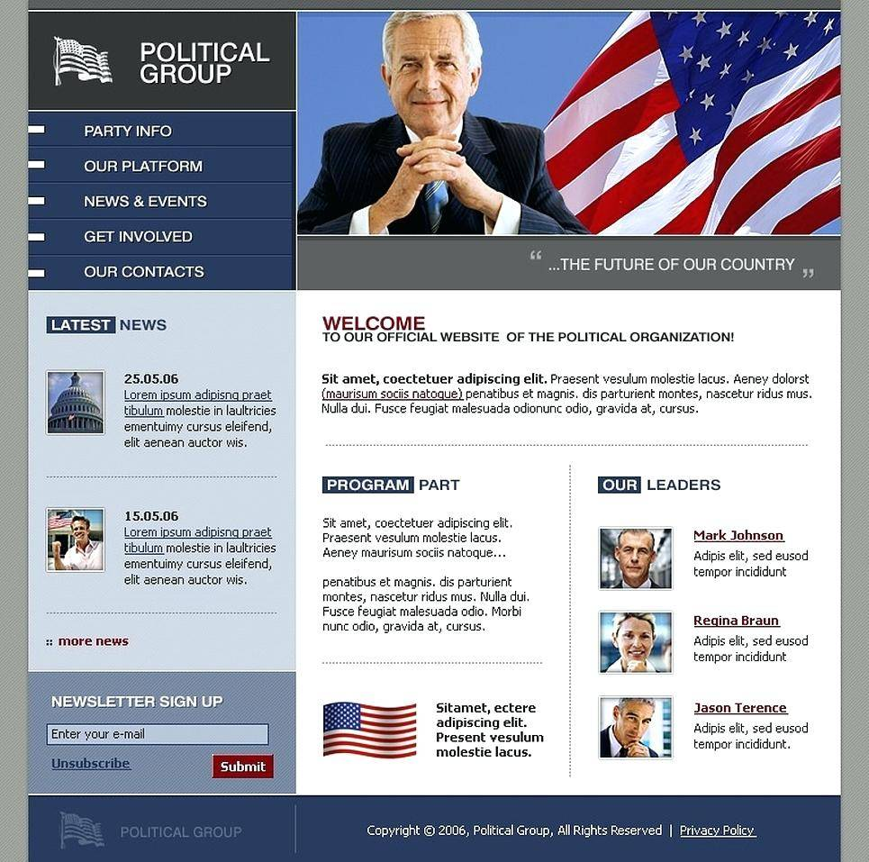 Political Campaign Website Templates Free