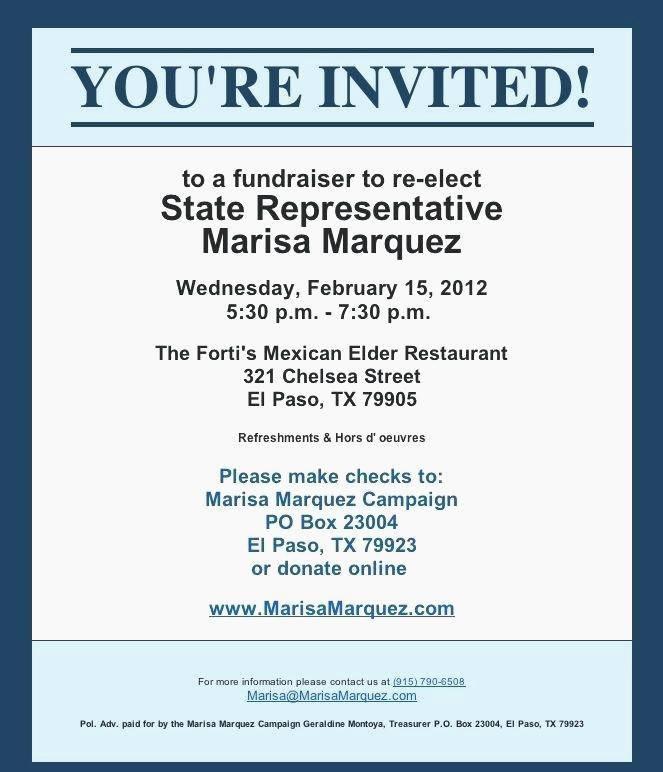 Political Fundraising Invitation Samples