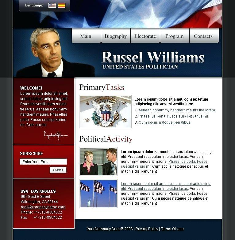 Politician Website Template