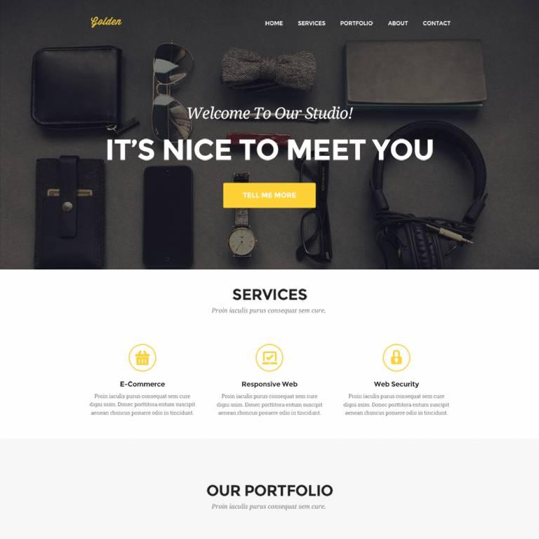 Portfolio Website Templates 2017